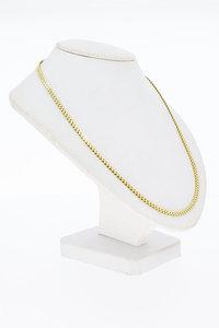 14 Karaat gouden gevlochten Y- fantasie Collier - 45,5 cm
