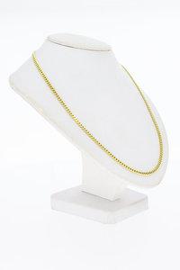 14 Karaat gouden geslepen Gourmet schakel ketting- 62 cm