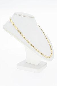 14 Karaat bicolor gouden gesloten Valkoog ketting - 50,5 cm