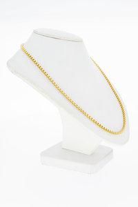 18 Karaat geel gouden Venetiaans schakelketting - 58 cm