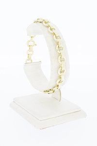14 Karaat gouden fantasie Jasseron armband - 20,2 cm