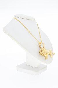 14 Karaat geel gouden hanger (28 gram) - Leeuw