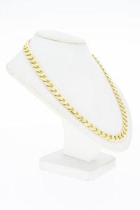 14 Karaat gouden Open geslepen Gourmet ketting- 51,5 cm