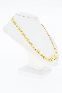 14 Karaat geel gouden vintage gevlochten Collier - 43,4 cm