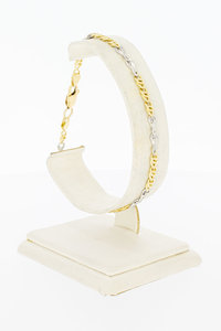 14 Karaat bicolor gouden Valkoog Infinity armband - 20,9 cm