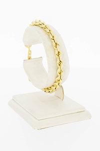 14 Karaat gouden gevlochten Koord schakelarmband- 19 cm