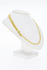 14 Karaat gouden verstelbare Gourmet ketting - 60 cm