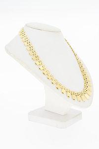 14 Karaat geel gouden Zonnestraal spijltjes Collier - 45 cm