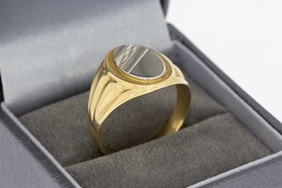 14 Karaat gouden Statement ring  -  ringmaat 19,3 mm