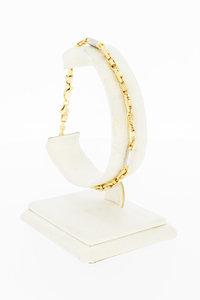 14 Karaat bicolor gouden koningsarmband - 20,7 cm