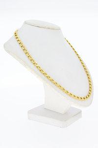 18 karaat geel gouden gourmet schakel ketting - 47,5 cm