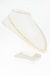 14 karaat geel gouden Figaro schakelketting - 45 cm