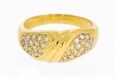 Gouden Fantasie Ring Diamant (0.32 crt)
