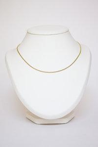 14 karaat geel gouden Gourmet schakel Collier - 45 cm