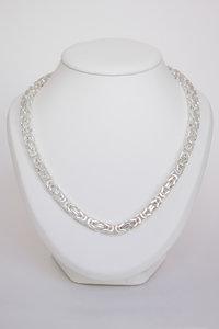 Massief zilveren Koningsketting- 45 cm