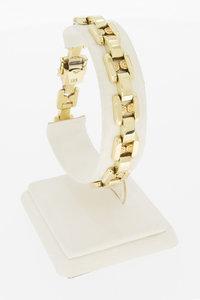 14 Karaat grove geelgouden schakelarmband - 21,5 cm