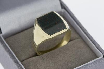 14 Karaat gouden Zegelring gezet met Onyx - 20,5 mm