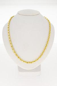 14 karaat geel gouden Anker schakelketting- 50 cm