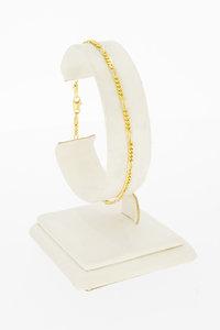 Gouden Figaro armband- 19 cm