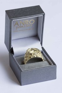 """14 Karaat gouden Statement ring """"Mercedes"""" met Diamant"""