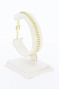 14 Karaat geel gouden Gourmet schakelarmband - 19,3 cm