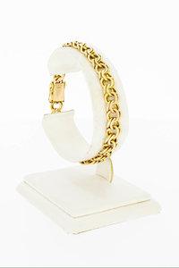 14 Karaat gouden gevlochten schakelarmband - 18,1 cm