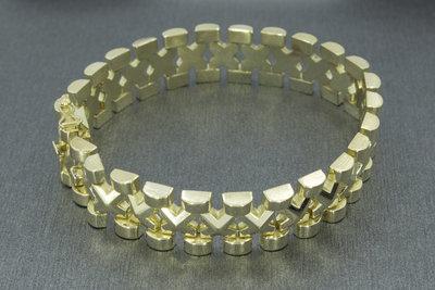 14 karaat geel gouden vintage schakelarmband - 20 cm