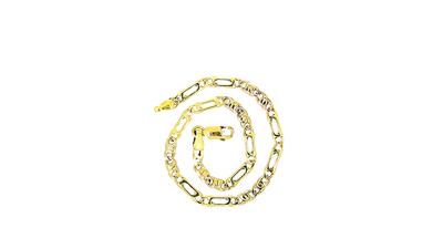 14 karaat bicolor gouden Valkoog schakelarmband