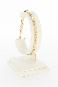 14 Karaat geel gouden Plaatjes schakelarmband - 20,5 cm