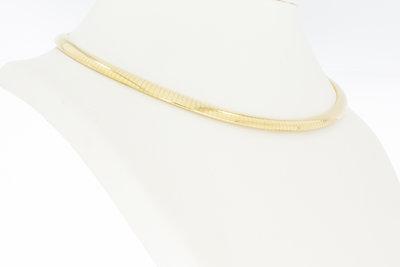 14 karaat geel gouden Omega schakel Collier - 43,0 cm