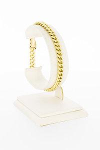 14 Karaat geelgouden Open Gourmet armband - 19,8 cm