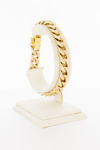 14 Karaat gouden gewalste Gourmet schakelarmband-20,4 cm