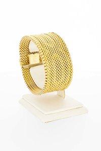 18 Karaat geel gouden Milanese schakelarmband - 18 cm