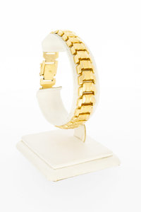 18 Karaat gouden Rupsband schakelarmband - 18,8 cm