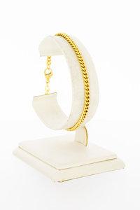 14 Karaat geel gouden Gourmet schakelarmband - 19 cm