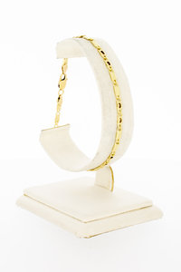 14 Karaat geel gouden Valkoog schakelarmband - 20,2 cm