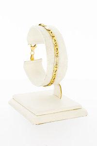 14 Karaat geel gouden Valkoog schakel armband - 18 cm