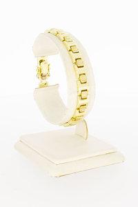 14 Karaat geel gouden Staafjes schakelarmband - 18,5 cm