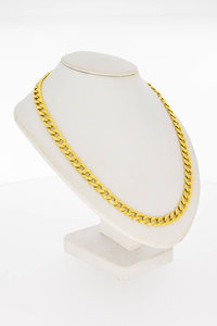 14 Karaat gouden Open Gourmet schakelketting - 50,7 cm