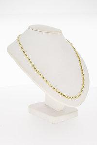 14 Karaat geel gouden Venetiaanse schakel Collier - 43 cm