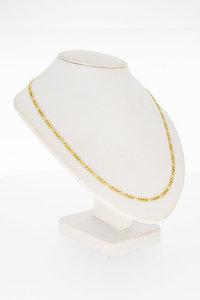 14 Karaat geel gouden Figaro schakel Collier - 44,4 cm