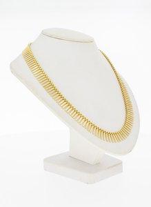 14 Karaat gouden Zonnestraat staafjes Collier - 48,5 cm