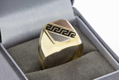 14 Karaat bicolor gouden Statement ring - 20 mm