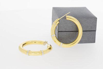 18 Karaat bicolor gouden Creolen (diameter 36,6 mm)