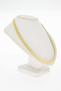 14 Karaat gouden gefigureerde gevlochten Collier - 46,6 cm