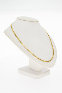 14 Karaat geel gouden Plaatjes schakel Collier - 40 cm
