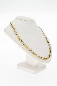 14 Karaat bicolor gouden Rolex schakelketting - 60 cm