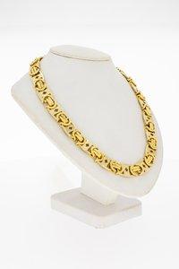 18 Karaat gouden Platte Konings schakelketting - 70,6 cm