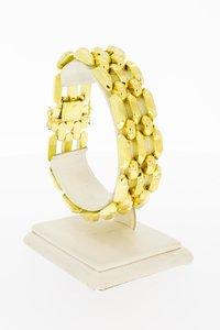 18 Karaat gouden brede Staafjes schakelarmband - 19,8 cm