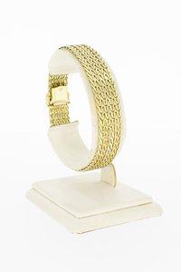 14 Karaat gouden gevlochten schakelarmband - 19,1 cm